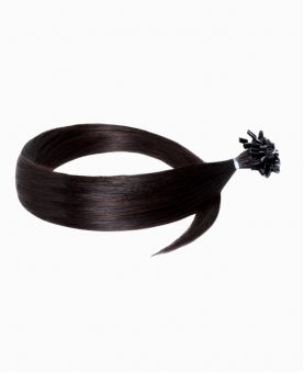 """Easy Loop Remy Human Hair Extension 18"""" - Straight - Excellence - Color 1B"""