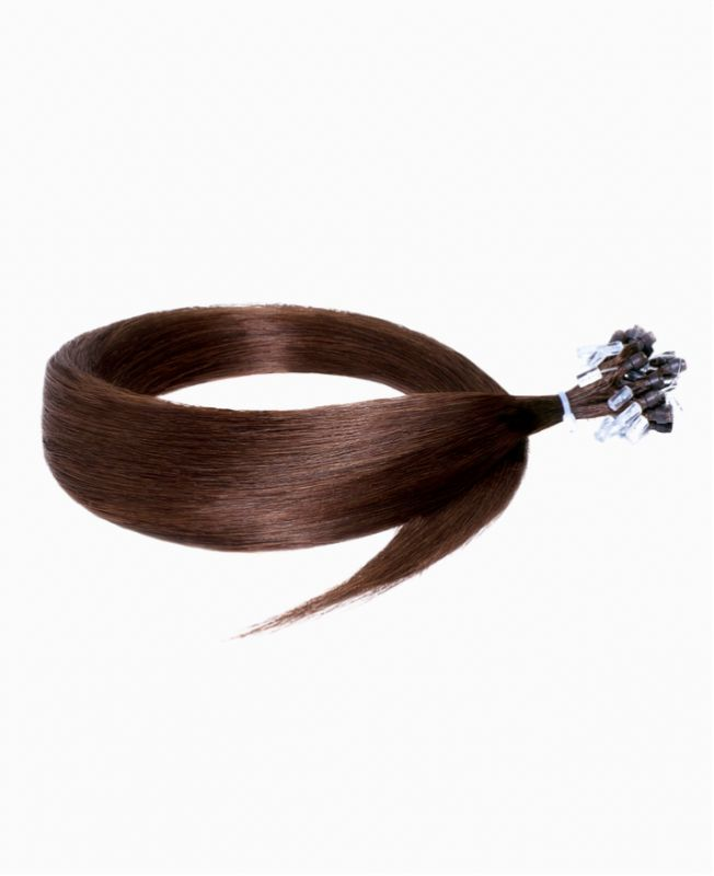 """Easy Loop Remy Human Hair Extension 18"""" - Straight - Excellence - Color 4"""