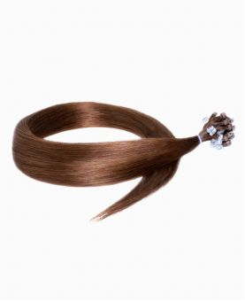 """Easy Loop Remy Human Hair Extension 18"""" - Straight - Excellence - Color 6"""