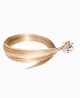 """Easy Loop Remy Human Hair Extension 18"""" - Straight - Excellence - Color Highlights 613-14"""