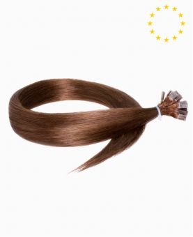 """Pre-bonded Remy Human Hair Extensions 22"""" - Straight - European - Color 6"""