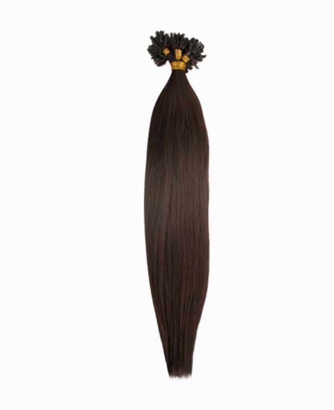 """Pre-bonded Remy Human Hair Extensions 18"""" - Straight - Premium - Color 2"""