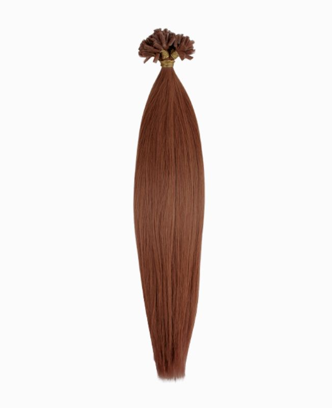 """Pre-bonded Remy Human Hair Extensions 18"""" - Straight - Premium - Color 6"""