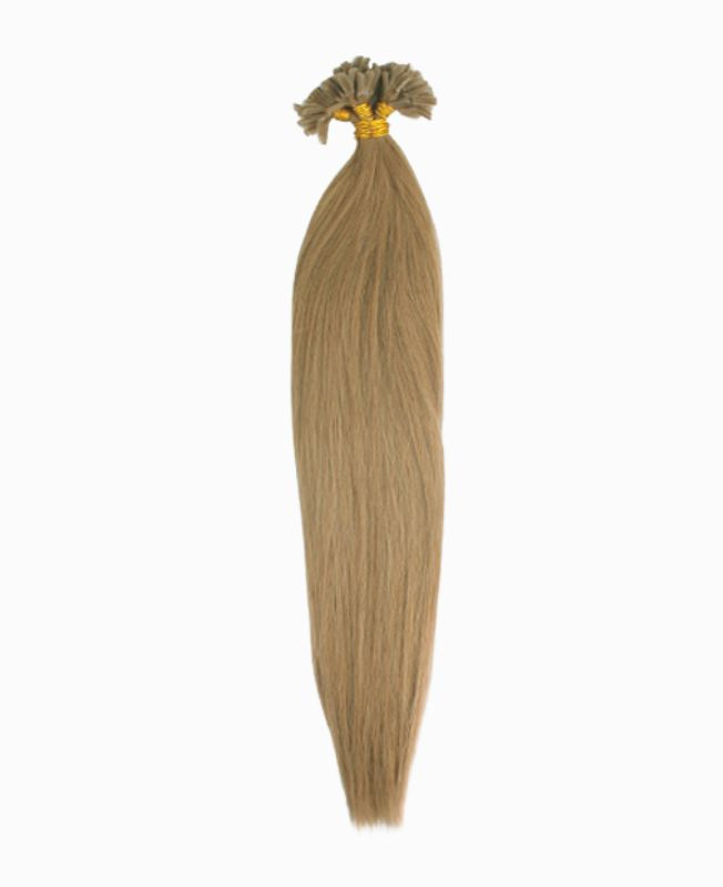 """Pre-bonded Remy Human Hair Extensions 18"""" - Straight - Premium - Color 14"""