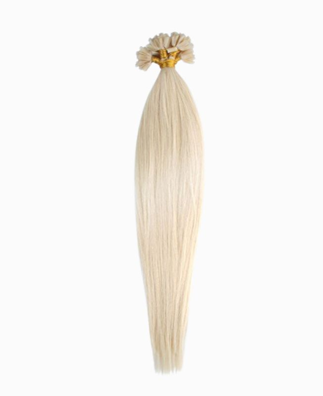 """Pre-bonded Remy Human Hair Extensions 18"""" - Straight - Premium - Color 60"""