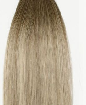 Micro Ring Remy Human Hair Extension - Straight - Excellence - Color Balayage Moscou