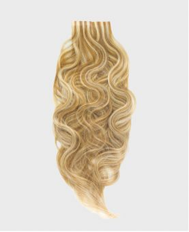 Tape in Remy human Hair Extensions - Nature Wave - Excellence - Color Highlights 613-14
