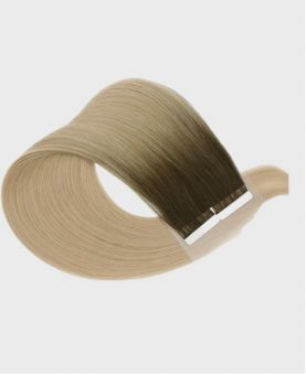 Tape in Remy human Hair Extensions - Straight - Excellence - Color Rooted Denver