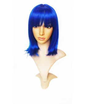 Perruque Flashy color - Carré Bleu - Perruque cheveux
