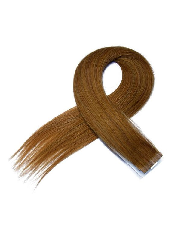 4 Tape in Hair Extensions 50 cm SOCAP - Straight - Color 10