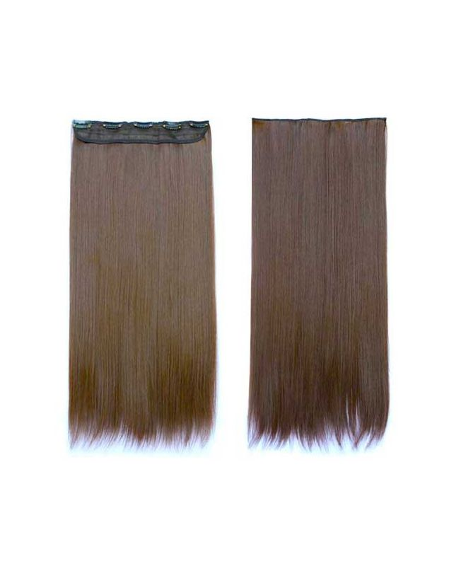 """Mono Clip in Hair Extension 18"""" (Set of 150 gr) Straight - Synthetic Fiber - Color 6"""