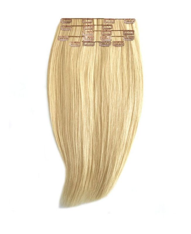 """Clip in Human Hair Extensions 18"""" (Set of 110 gr) Straight - Excellence - Color 22"""