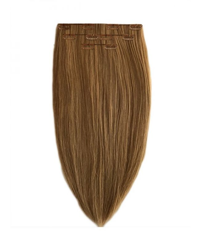 Extension à Clip Naturel 40 cm | Extension cheveux Lisse - Blond naturel doré N°10