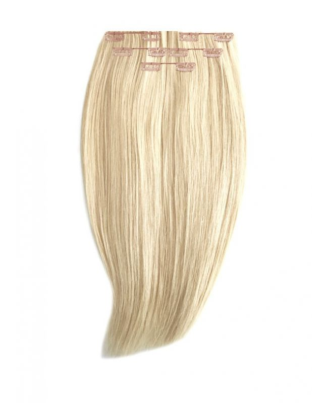 """Clip in Human Hair Extensions 16"""" (Set of 80 gr) Straight - Excellence - Color 60"""