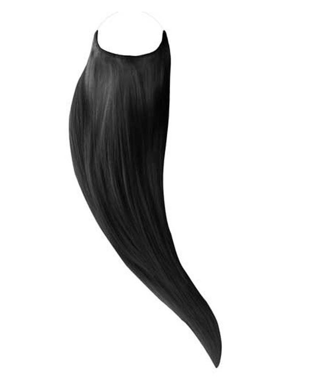"""Flip in Human Hair Extensions 18"""" (Set of 105 gr) Straight - Excellence - Color 1"""