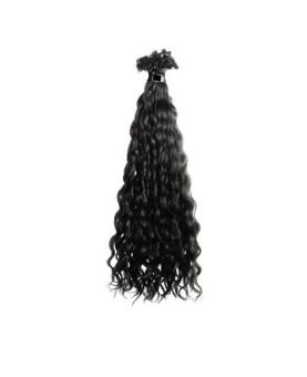 Extension cheveux Bouclé SHE by SOCAP - 10 Extensions à chaud 50 cm - Noir 1B