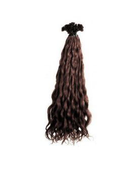 Extension cheveux Bouclé SOCAP - 10 Extensions à chaud 50 cm - Chatain Clair 4