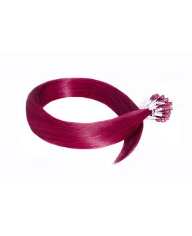 Extension à froid - LOOP Flashy Color Burg - Extension cheveux Remy Hair