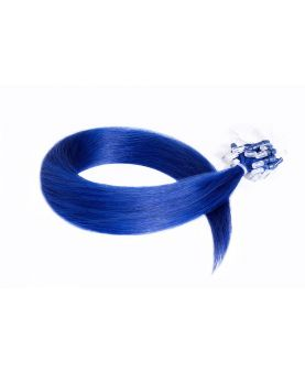 Extension à froid - LOOP Flashy Color Bleu - Extension cheveux Remy Hair