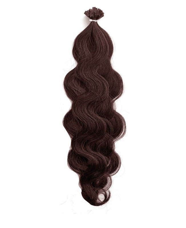 """Pre-bonded Remy Human Hair Extensions 18"""" - Wave - Excellence - Color 2"""
