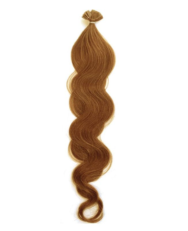 """Pre-bonded Remy Human Hair Extensions 18"""" - Wave - Excellence - Color 14"""