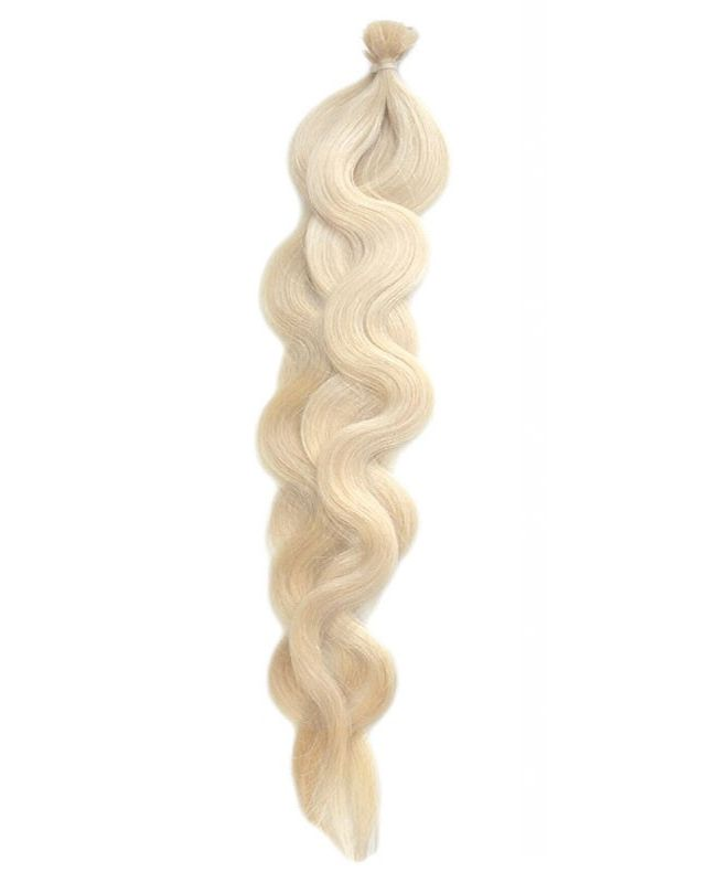 """Pre-bonded Remy Human Hair Extensions 18"""" - Wave - Excellence - Color 60"""