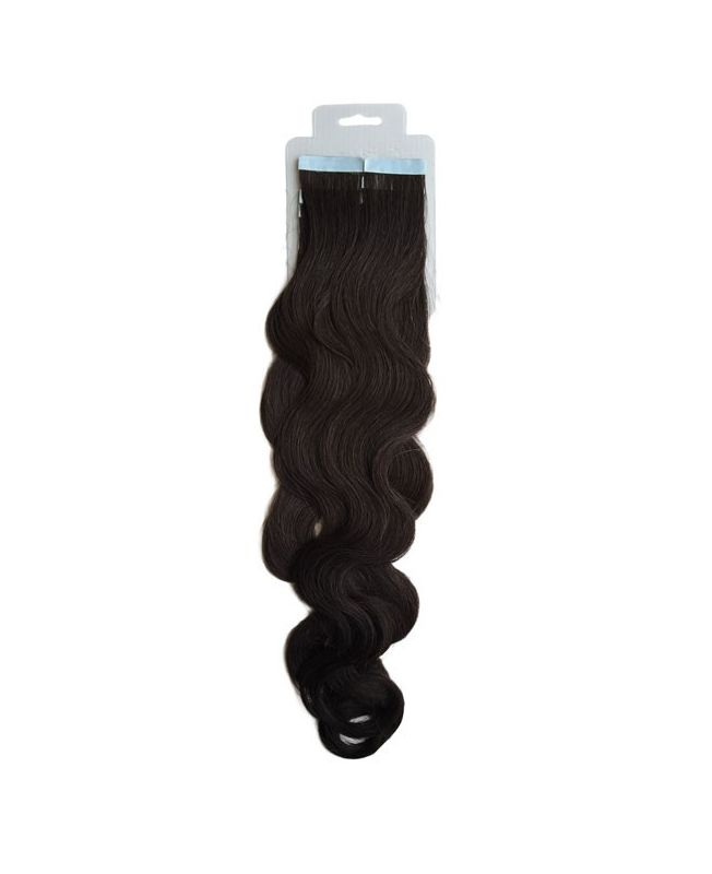 Tape in Remy human Hair Extensions - Nature Wave - Excellence - Color 1B