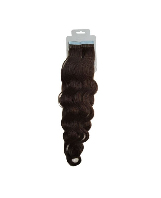 Tape in Remy human Hair Extensions - Nature Wave - Excellence - Color 2