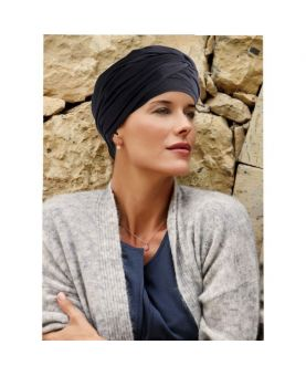 Turban / Foulard pour Chimiothérapie - Meda Black - Collection MIO by Ellen Wille