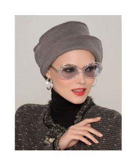 Turban / Foulard pour Chimiothérapie - Mabella Brown / Grey - Collection MIO by Ellen Wille