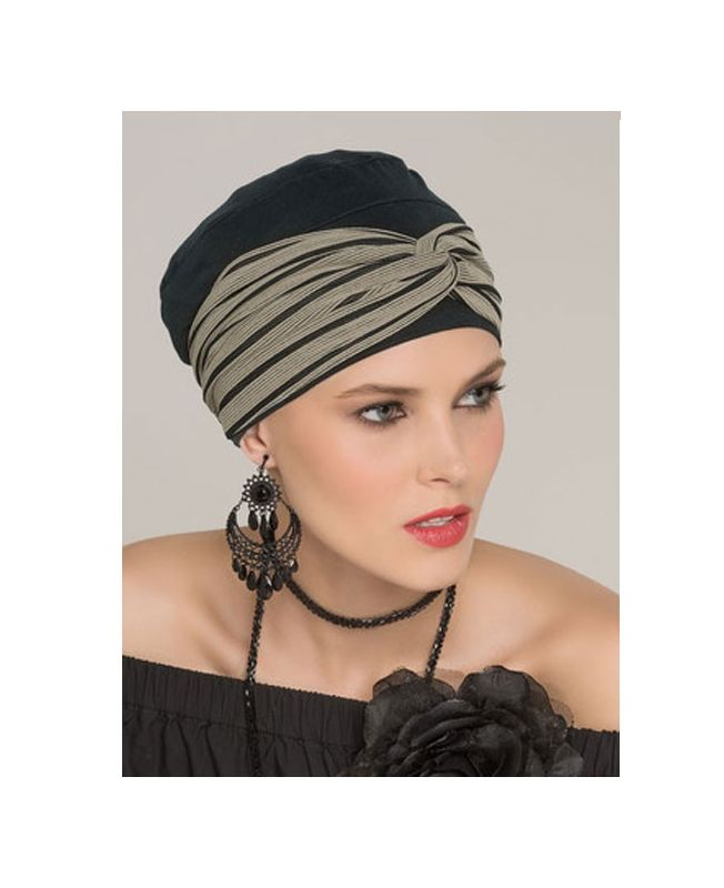 Turban / Headband for Chemotherapy - Tala Set Black Taupe - Latifa by Ellen Wille Collection