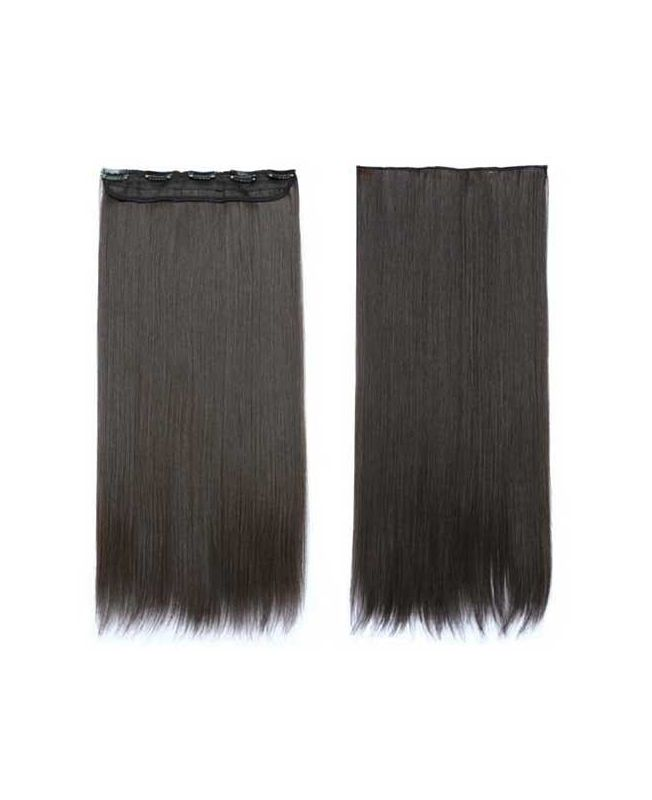 """Mono Clip in Hair Extension 18"""" (Set of 150 gr) Straight - Synthetic Fiber - Color 1B"""
