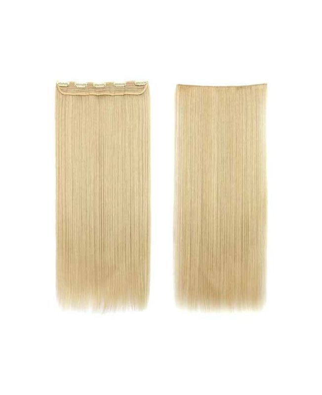 """Mono Clip in Hair Extension 18"""" (Set of 150 gr) Straight - Synthetic Fiber - Color 613"""