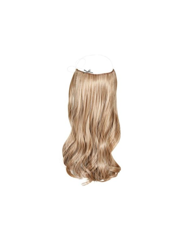 """Flip in Hair Extensions 18"""" (Set of 120 gr) Straight - Synthetic Fiber - Color Highlights 613-14"""