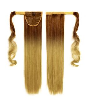 Queue de cheval Naturelle - Tie & Dye Blond N°6/22 - Extension cheveux - postiche
