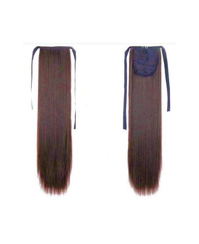 """Ponytail Synthetic Fiber 18"""" (Set Of 80 Gr) Straight - Color 8"""