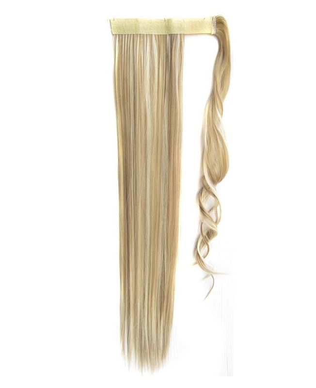 """Ponytail Synthetic Fiber 18"""" (Set Of 80 Gr) Straight - Color Highlights 613-14"""