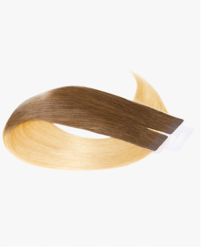 Tape in Remy human Hair Extensions - Straight - Excellence - Color Tie and Dye 22-6