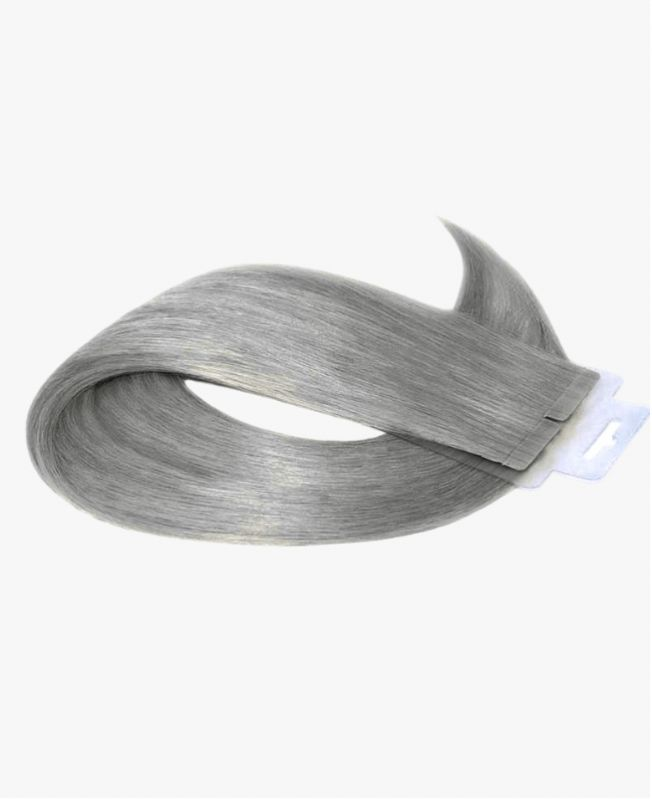 Tape in Remy human Hair Extensions - Straight - Excellence - Color Grey