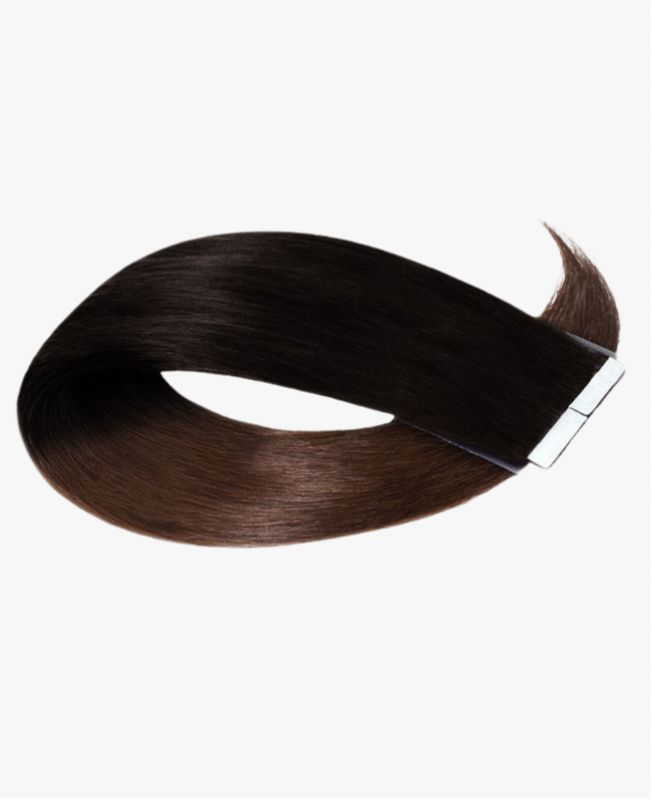 Tape in Remy human Hair Extensions - Straight - Excellence - Color Tie and Dye 1B-4